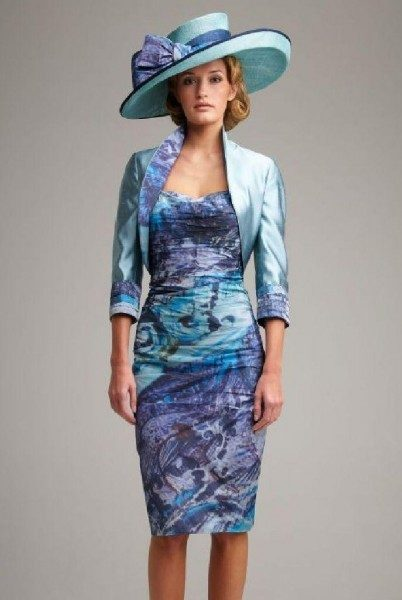 John Charles Ocean Blue Ruched Dress 25429 Beau Boutique