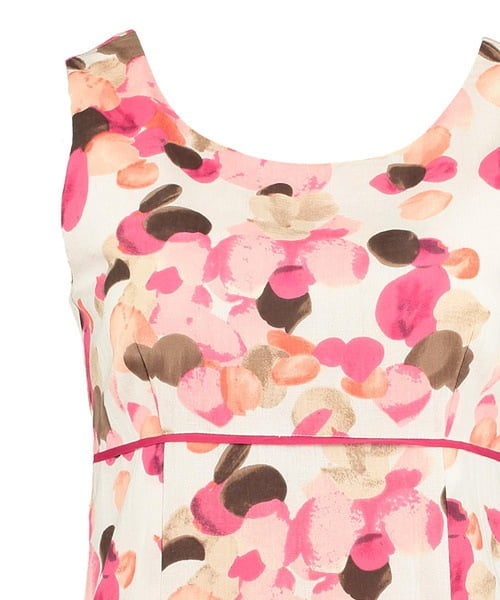 pomodoro bright pink teardrop dress 71816 beau boutique