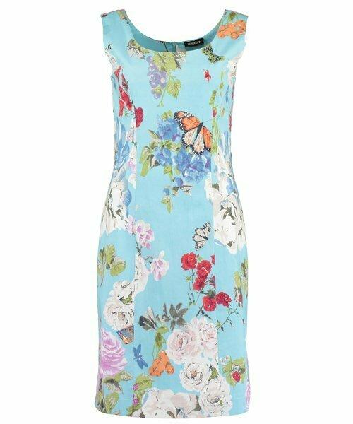 pomodoro turquoise bouquet dress 71835 beau boutique