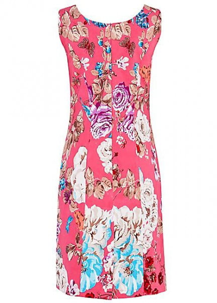 Pomodoro Bright Pink Bouquet Sundress 71839 Beau Boutique