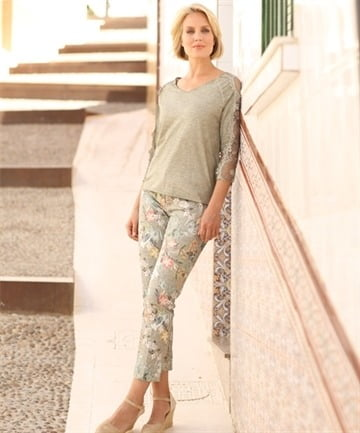 bae217d20ec21 v lace top - sleeve v neck lace trim juliet sleeve crop blouse top ...