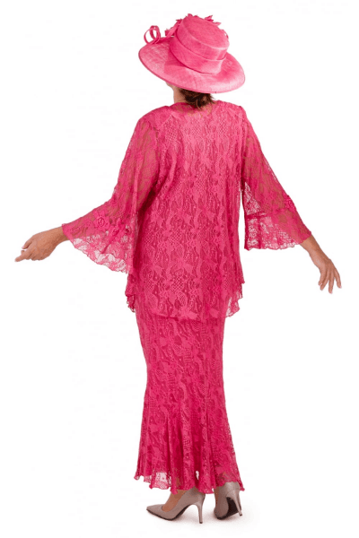 Ann Balon Fortuna Lace 3 Piece Available In Cerise Pink And Blue Marino Beau Boutique