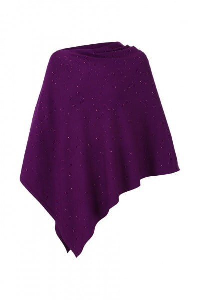 Marble Poncho 5026 With Added Sparkle Beau Boutique
